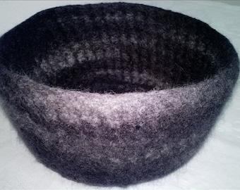 Felt basket anthracite gray mix