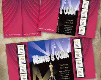 Hollywood Party Invitation for digital download. Customise and print from the comfort of your own home.