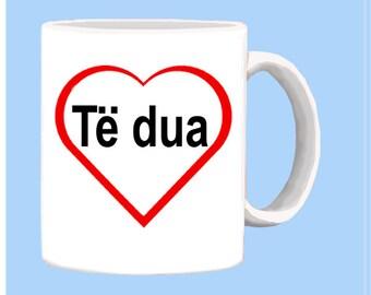 Albanian I LOVE YOU mug