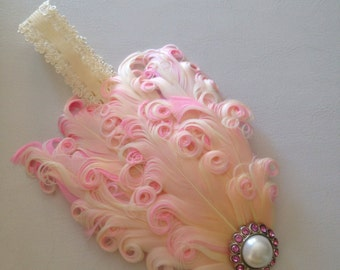 Beautiful feather headband for newborns