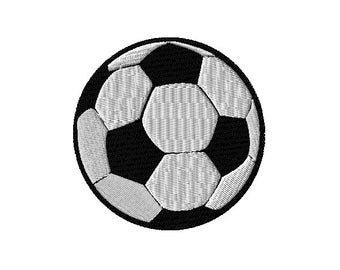 Soccer Ball Machine Embroidery Design 3 Sizes