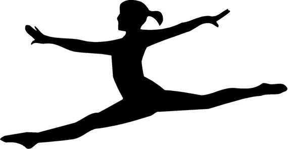 items similar to split leap gymnastics  cheer  dance ballet shoes clip art black ballet shoes clip art in black