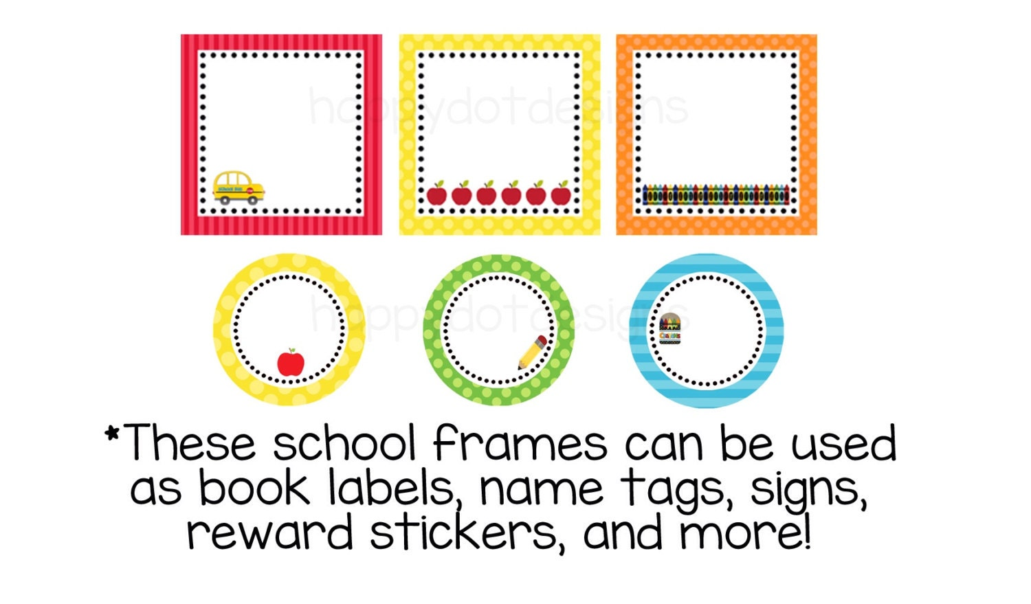 printable school labels stickers for classroom or homeschool. Black Bedroom Furniture Sets. Home Design Ideas