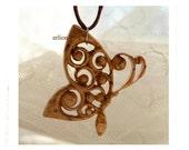Wooden Butterfly pendant