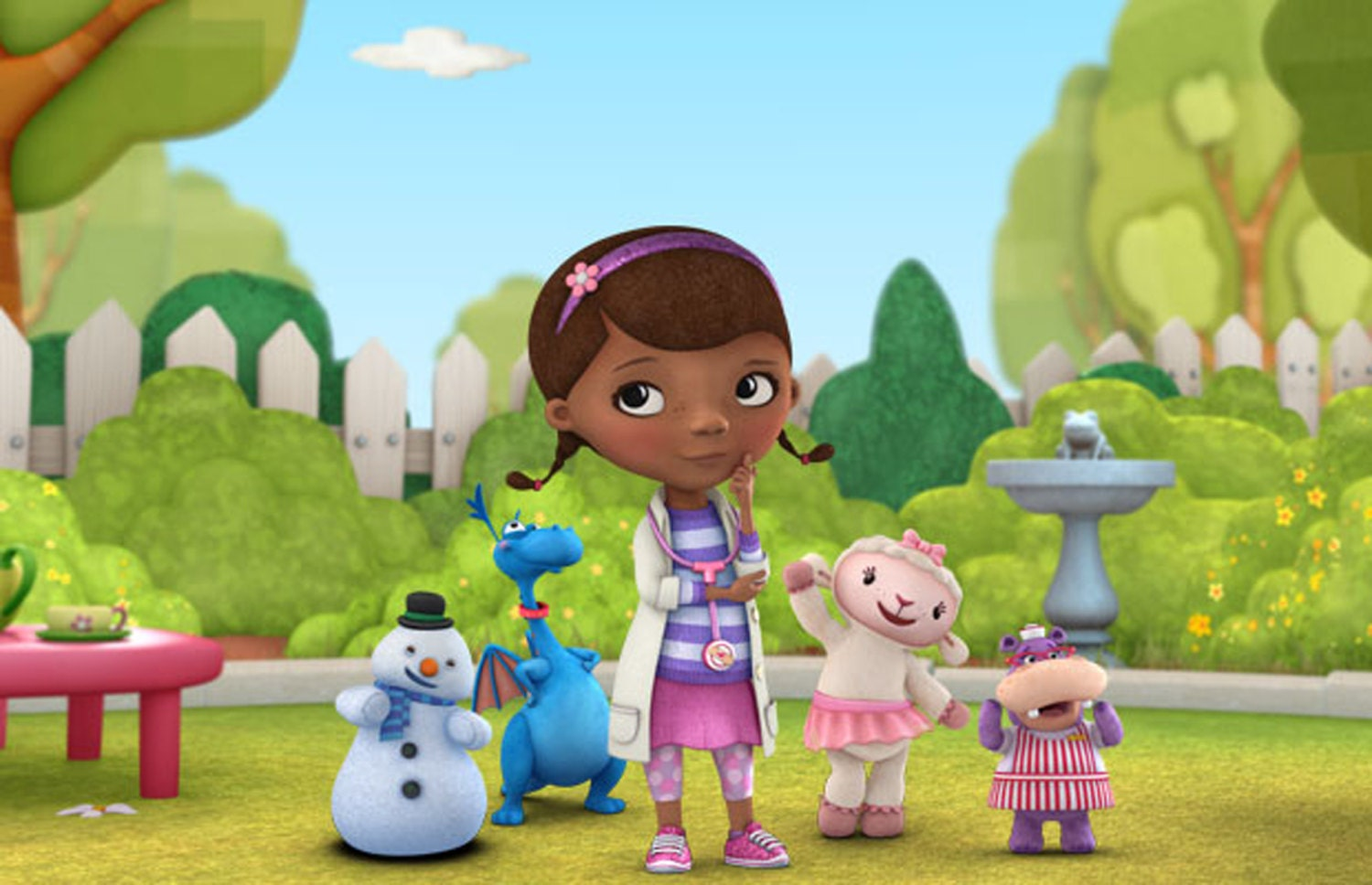 This is a picture of Nerdy Doc Mcstuffins Background