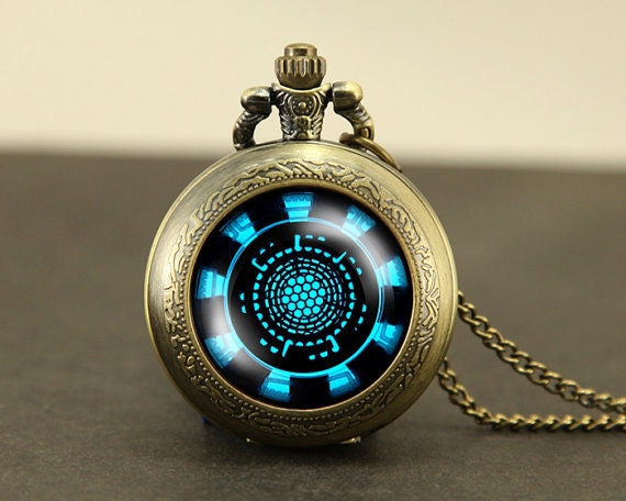 arc reactor necklace (etsy)
