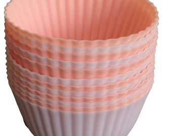 Pretty Pastel Silicone Baking cups, Cupcake and muffin Liners 2 for 7.99!