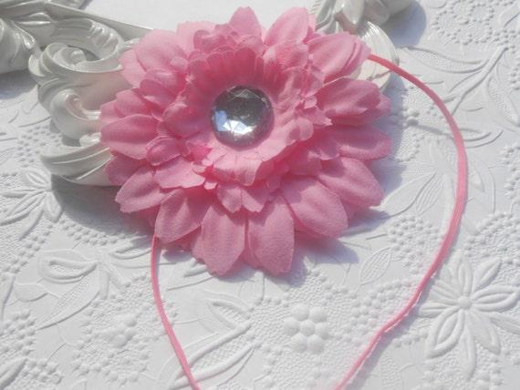 Pink flower Baby Headband, Newborn Headband,  Infant Headband,Baby Headband, Headband Baby, Baby Headband