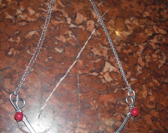 very nice crew neck chain antique silver