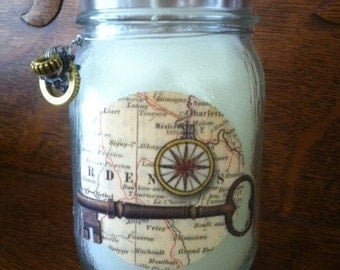 Steam Punk Inspired Candle