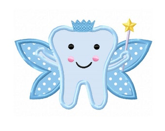 Applique Machine Embroidery DESIGN NO. 128.....Tooth Fairy
