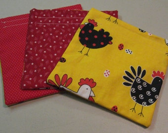Reusable Snack Bags Set of Three