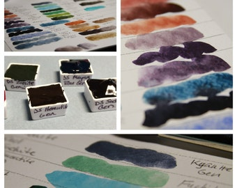 Primatek Watercolor Paint by Daniel Smith - Hand Poured Half Pans  - (You choose the color)