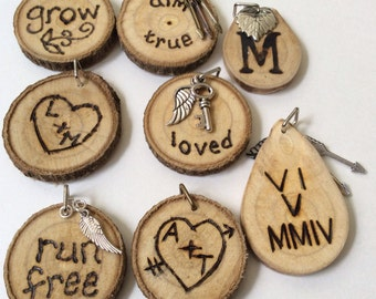 ADD ON //Custom Wood Burning for Diffuser Necklace or Bracelet