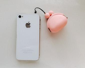 Silicone Mini Coin Purse Dust Plug Phone Charm Headphone Jack Earphone Cap Cellphone