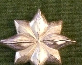 Brooch, Gold Flower Brooch