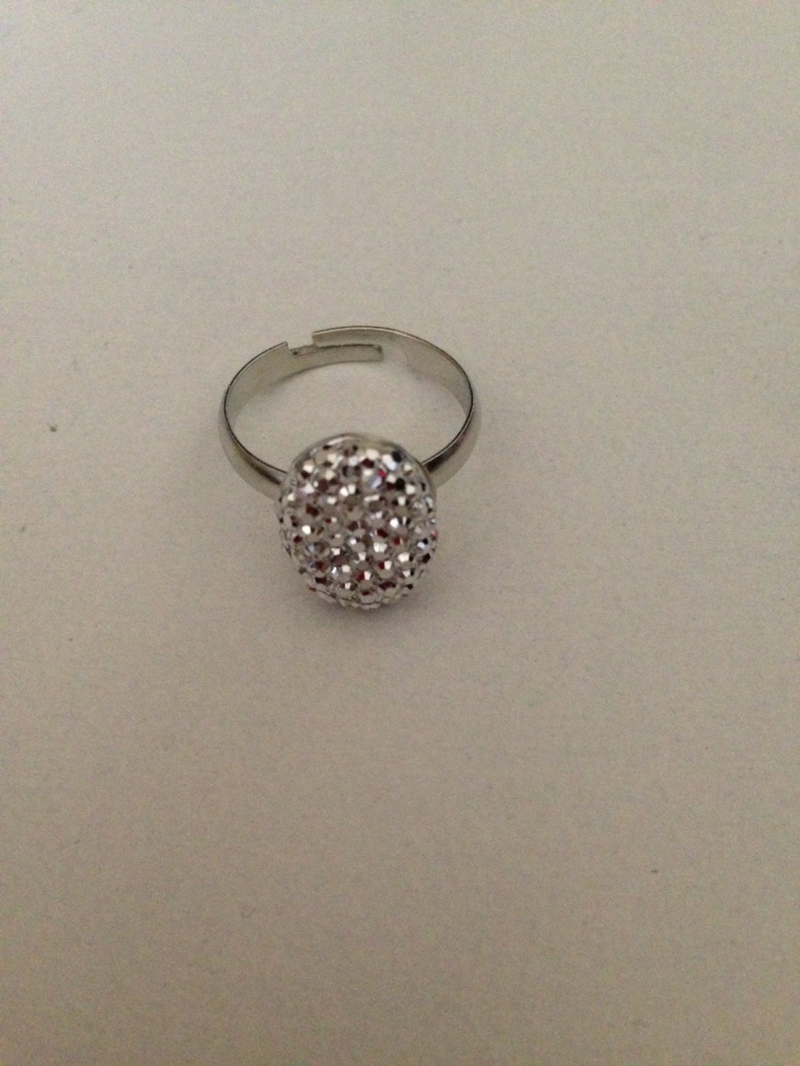 sparkly oval engagement ring by twibetween on etsy