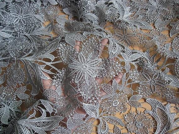 Brod de dentelle guipure fleur dentelle vid mariage for Guipure noire au metre