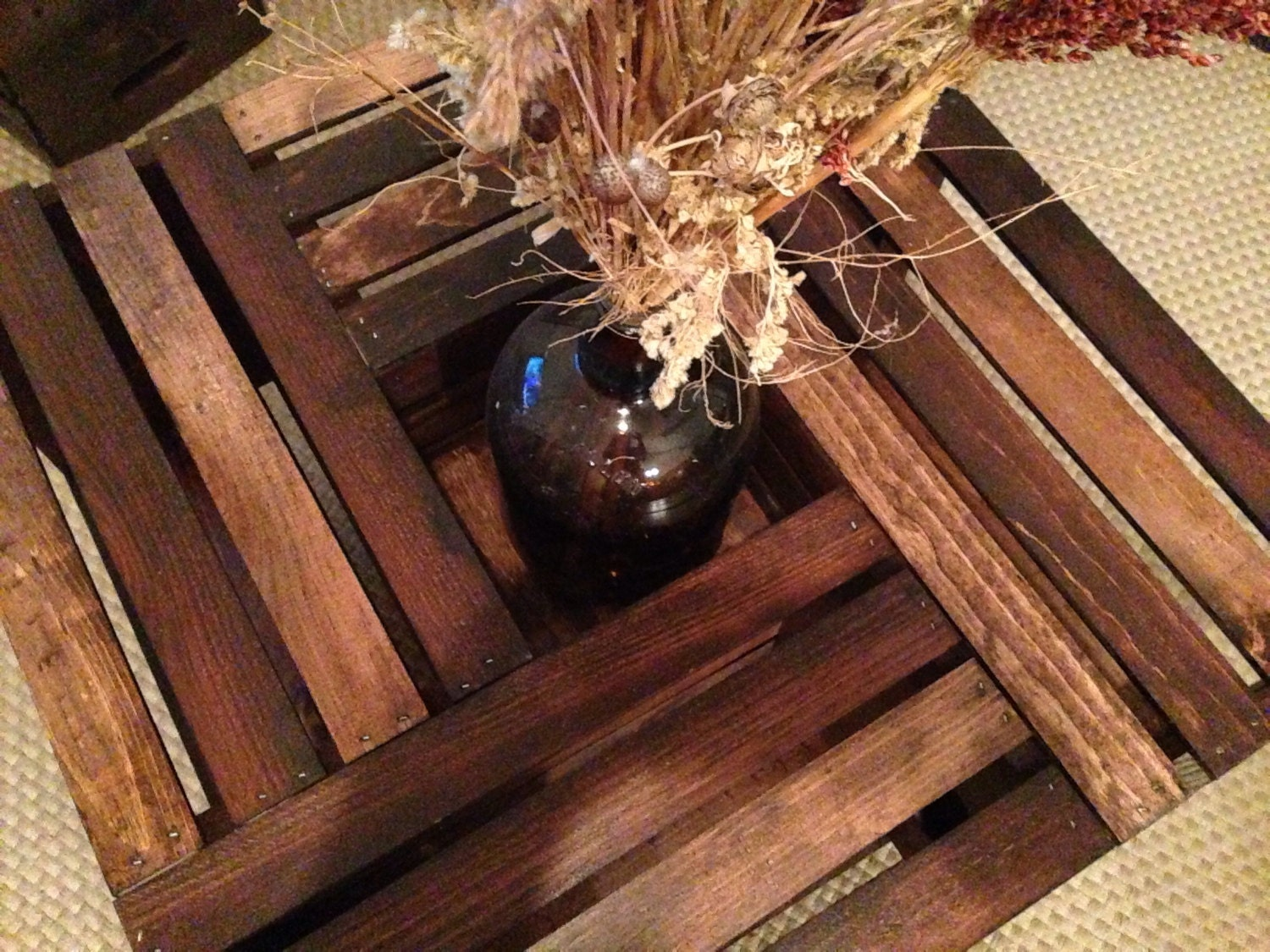 Handmade Wood Crate Coffee Table Rustic Coffee Table with