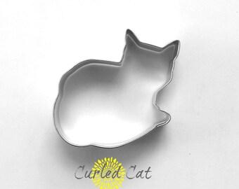 Curled Cat Cookie Cutter |  Cat Cookie Cutter | Kitty Cookie Cutter | Animal Cookie Cutter