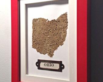 Ohio State Dirt Map, Ohio Dirt Map, Ohio Map, Ohio Art