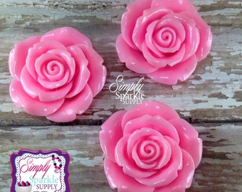 Pink Flower Pendant Chunky necklace Flower Focal Bead/Pendant bubblegum pendant