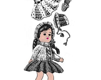 """Wardrobe Pattern #7 for Ginny Doll & Other 7-1/2"""" to 8"""" Doll"""