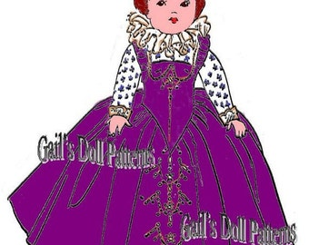 Queen Elizabeth Doll Clothes Outfit to fit 7.5 inch Ginny Walker Doll