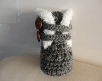 Crocheted Baby Boots Ugg style