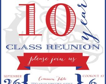 10 Year High School Reunion Invitation