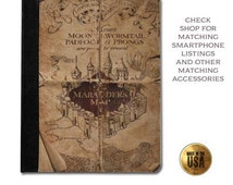 Harry Potter inspired Marauder's map grunge book cover handbook protective tablet case (ipad 2 3 4, air, mini, Kindle Fire, paperwhite)