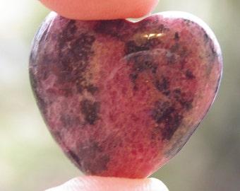 Rhodonite Heart Gemstone