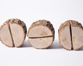 10 pieces rustic place card holders, Wedding placecard, table number holder, Rustic weddings table decor