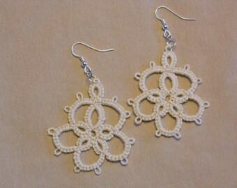 Off White Chandelier Earrings