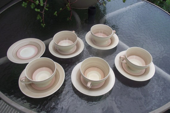 5 susie cooper production wedding band cups by