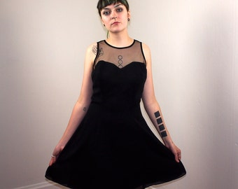 Black Sweetheart Dress with Bow in Back