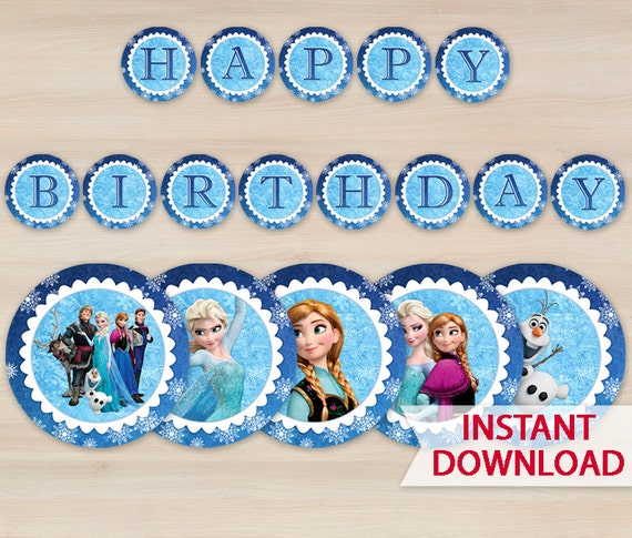 Frozen Birthday Banner Printable Frozen Banner Party By: Olga L On Etsy