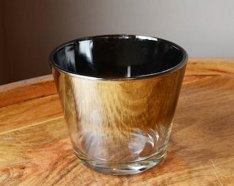 Silver Ombre Ice Bucket Vitreon Queen's Lustreware, Vintage Barware Mercury Fade. Mad Men, Mid Century Modern