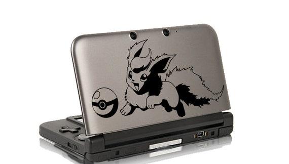 Pokemon Flareon Decal 3ds autocollant - autocollant de vinyle de Pokemon - Pokemon réfrigérateur Decal - iPad Sticker - Macbook Decal