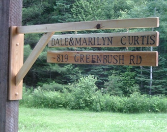 Name and address sign
