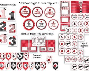 Ladybug Printable Birthday Party Pack