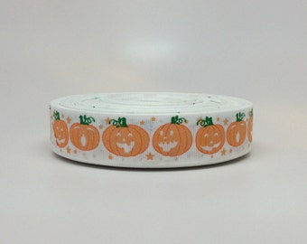 7/8 Halloween Pumpkins Grosgrain Ribbon