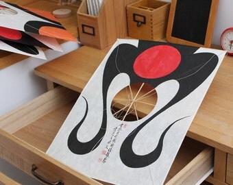 Gingorinunjangyi-yeon - Korean Traditional Kite made by cultural intangible asset in Busan Korea Home Decor Flying Kite Art wall hanging