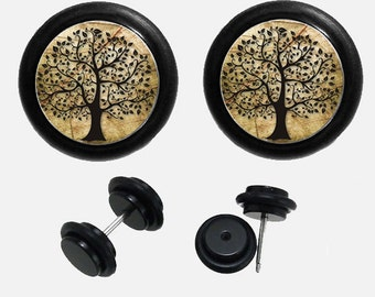 Tree of Life Fake Ear Plugs