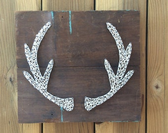 Made to Order - Antlers - Nail and String Art