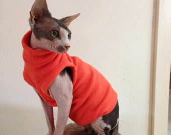 Fleece Vest for Sphynx Cat - Cat/Dog Clothes