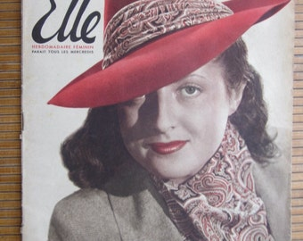 "fashion french magazine""pour elle"" year 1941"