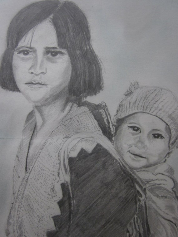 charcoal-drawing-asian-woman