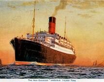 RMS Andania Cunard Line reproduction promotional postcard