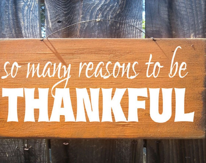 Fall decor, Autumn decor, Thankful sign, autumn sign, fall sign, thanksgiving sign, holiday sign, so many reason to be thankful sign